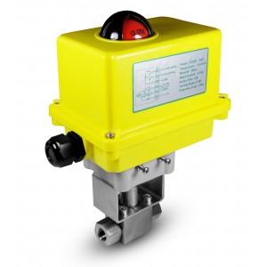 Højtryks kugleventil 1/2 tommer SS304 HB22 med elektrisk aktuator A250