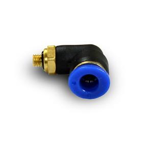 Vinkelstik nippelslang 4mm gevind M5 PL04-M05