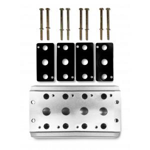 Samlerplade til tilslutning af 4 ventilserie 4V2 4A gruppeventil terminal 5/2 5/3