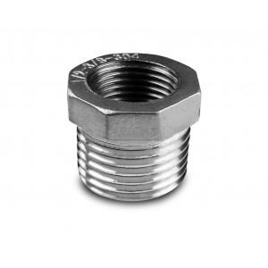 Reduktion rustfrit stål 1/4 - 1/8 tommer