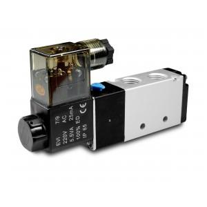 Magnetventil 5/2 4V410 1/2 tommer til pneumatiske cylindre 230V eller 12V, 24V