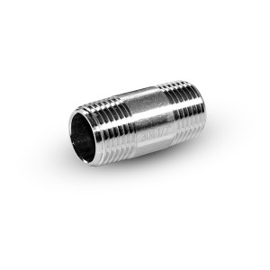Rørnippel rustfrit stål 1/2 tommer 42 mm