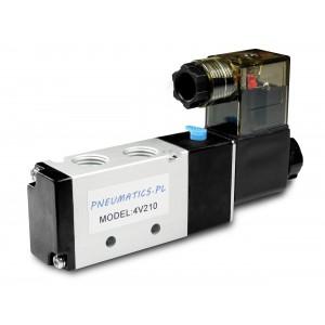 Magnetventil til pneumatiske cylindre 4V210 5/2 1/4 230V 12V 24V