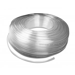 Polyurethan pneumatisk slange PU 6/4 mm 100m transp.