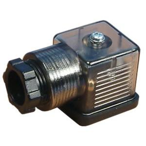 Tilslut til magnetventil 18mm DIN 43650 med LED