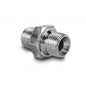 Nippel hydraulisk tryk 3/8 - 3/8 tommer