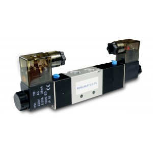 Magnetventil 4V230C 5/3 1/4 tommer til pneumatiske cylindre 230V eller 12V, 24V
