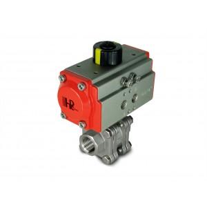 1/2 tommer højtryks kugleventil DN15 PN125 med pneumatisk aktuator AT40