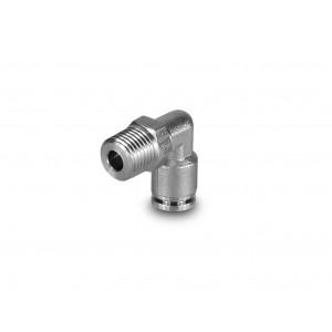 Tilslut nippelvinklet rustfri stålslange 10mm gevind 1/4 tommer PLSW10-G02