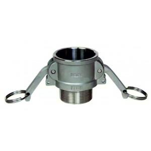 Camlock-stik - type B 1/2 tommer DN15 SS316