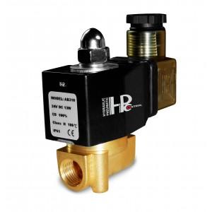 Magnetventil 2N08 1/4 230V eller 24V, 12V Viton - resistent over for kemikalier