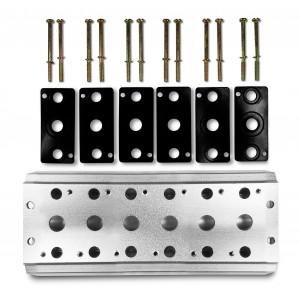 Samlerplade til tilslutning af 6 ventiler 1/4 serie 4V2 4A gruppeventil terminal 5/2 5/3