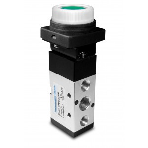 Manuel ventil 5/2 MV522PP 1/4 tommer aktuatorer