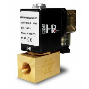 Magnetventil 2M08 1/4 tommer 0-16bar 230V 24V 12V