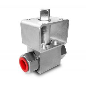 Højtryks kugleventil 1/4 tommer SS304 HB22 monteringsplade ISO5211