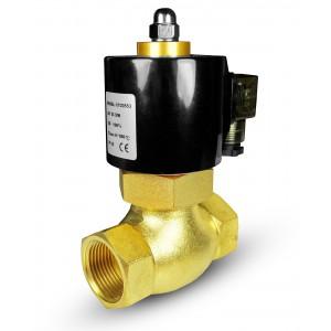 Magnetventil til damp og høj temp. 2L40 DN40 180 ° C 1 1/2 tomme