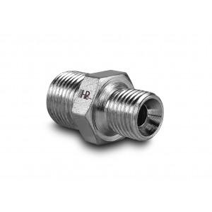 Nippel hydraulisk tryk 1/4 - 3/8 tommer