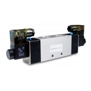 Magnetventil 4V420 5/2 bistabil 1/2 tommer til pneumatiske cylindre 230V eller 12V, 24V