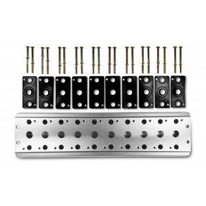 Samlerplade til tilslutning af 10 ventiler 1/4 serie 4V2 4A gruppe ventilterminal 5/2 5/3