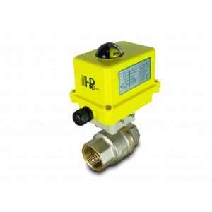 Kugleventil 1 1/2 tommer DN40 med elektrisk aktuator A250