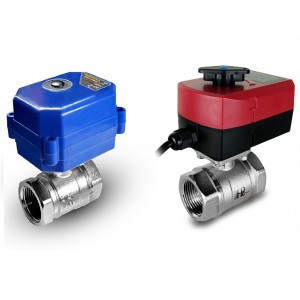 Kugleventil 1/2 tommer med elektrisk aktuator A80 eller A82