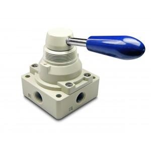Manuel ventil 4/3 4HV230-08 1/4 tommer aktuatorer