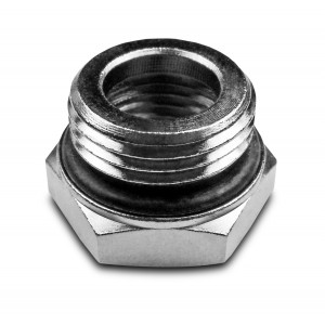 Reduktion 1/2 - 3/8 tommer med o-ring