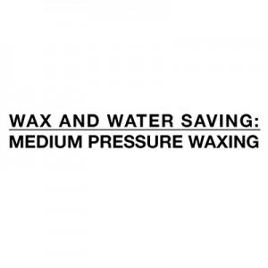 Besparelse af vand og voks - voksende mediumtryk