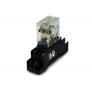 Relæ 10A 2x NO / NC med base til montering på en DIN-skinne