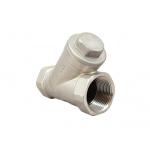 Checkventil Y type DN32 1 1/4 tommer - rustfrit stål SS316